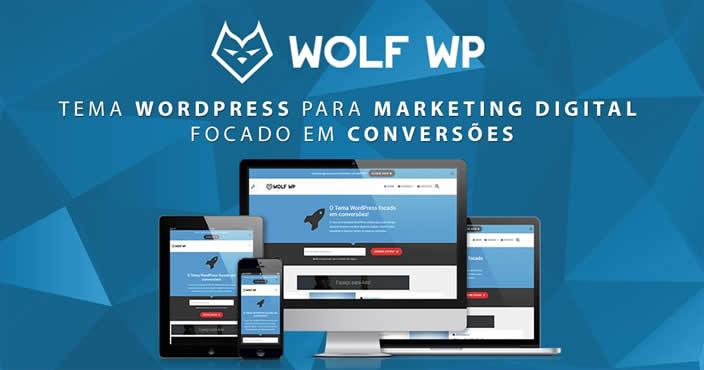 Template Para Blog Wolf Wp Construção de Páginas e Blog Fácil e Rápido